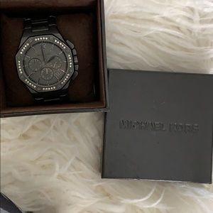 Like new, Michael Kors gunmetal watch.